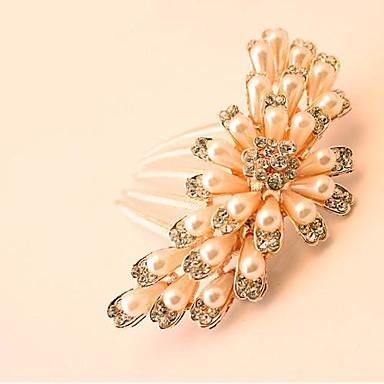 gyönyörű menyasszony népszerű divat butik luxus strasszos haj fésű