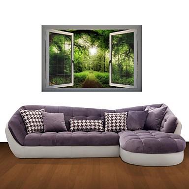 ботанический Пейзаж Отдых Наклейки 3D наклейки Декоративные наклейки на стены материал Съемная Украшение дома Наклейка на стену