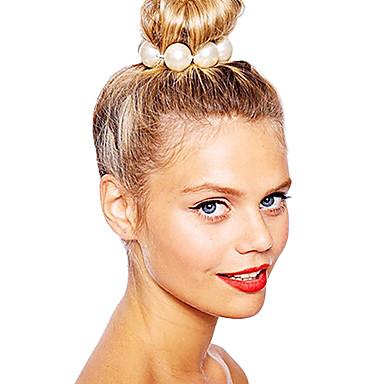 klasik beyaz inci avrupa elastik saç bağları shixin® (1 adet)
