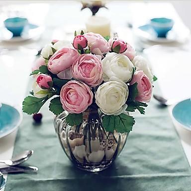 Flores Artificiales 1 Rama Estilo Simple Rosas Flor de Mesa