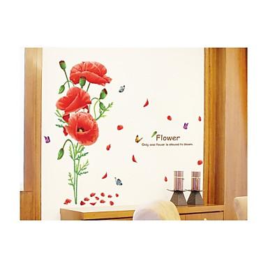 Rajzfilm Romantika Virágok Falimatrica Repülőgép matricák Dekoratív falmatricák Esküvő-matricák Anyag Eltávolítható lakberendezési fali