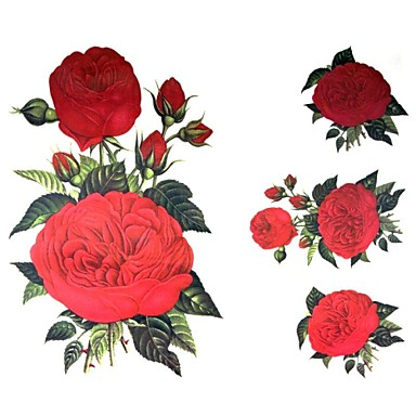 Tattoo Stickers Flower Series Large Size Lower Back Waterproof Women Girl Adult Boy Teen Flash Tattoo Temporary Tattoos