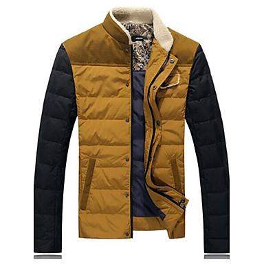 9dce47ac1b férfi őszi és téli alkalmi felsőruházat meleg kabát le télikabát ...