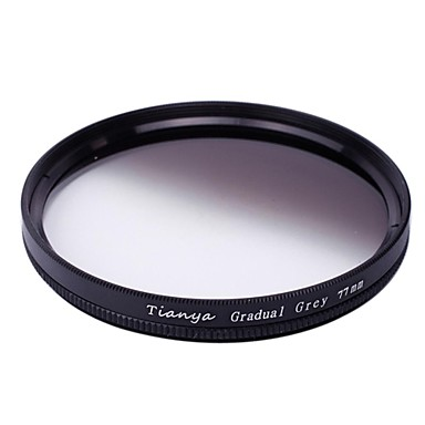 TIANYA® 77mm Circular Graduated Grey Filter for Canon 24-105 24-70 I 17-40 Nikon 18-300 Lens