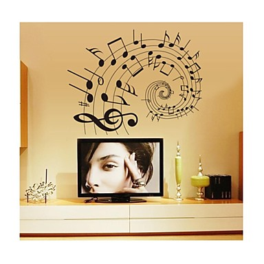 Formen Cartoon Design Musik Wand-Sticker Flugzeug-Wand Sticker Dekorative Wand Sticker, PVC Haus Dekoration Wandtattoo Wand