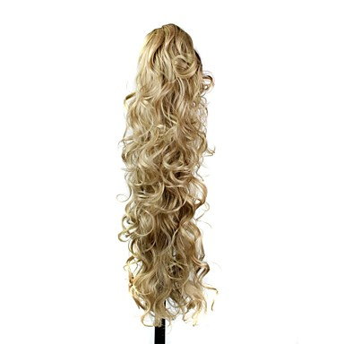 Human Hair Extensions Synthetic Wavy Hair Extension
