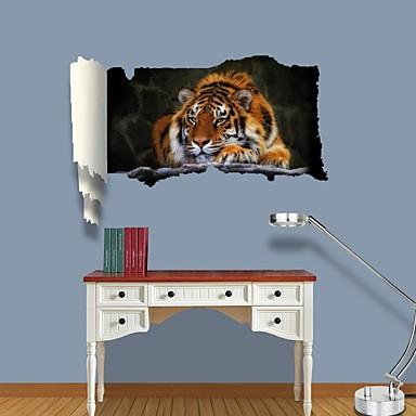 Животные Отдых Наклейки 3D наклейки Декоративные наклейки на стены материал Съемная Украшение дома Наклейка на стену