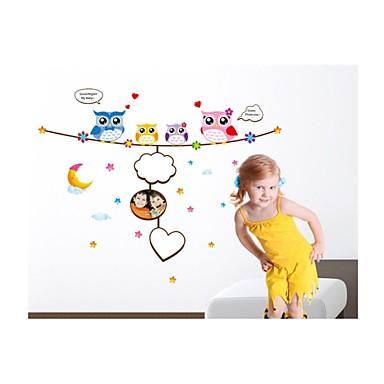 Hayvanlar Şekiller Yılbaşı Karton Duvar Etiketler Uçak Duvar Çıkartmaları Dekoratif Duvar Çıkartmaları, Vinil Ev dekorasyonu Duvar