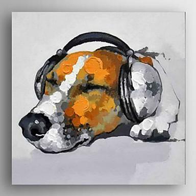 peinture l 39 huile abstraite moderne avec chien toile musique de la main sur canevas tendu de. Black Bedroom Furniture Sets. Home Design Ideas
