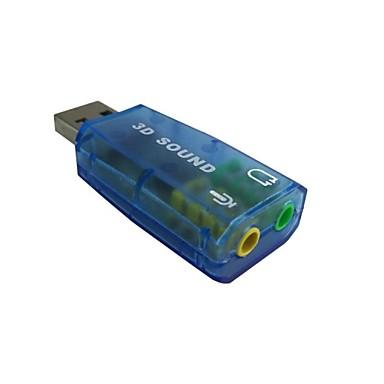 Jó minőségű USB 2.0 mic hangszórós audio headset mikrofon 3,5 mm-es jack átalakító hangkártya adapter