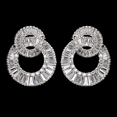 zilverlegering met zirkonia bruiloft oorbellen elegante stijl