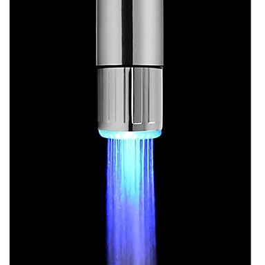 Contemporary Faucet Light Plastic Feature - LED, Shower Head