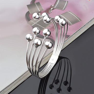 Dames Cuff armbanden Uniek ontwerp Modieus Met de hand gemaakt Titanium Staal Legering Sieraden Zilver Sieraden Voor Bruiloft Feest1