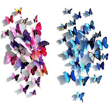 Plastsommerfugl Plast / PVC Bryllupsdekorasjoner Bryllup / Fest Sommerfugl Tema / Klassisk Tema Alle årstider