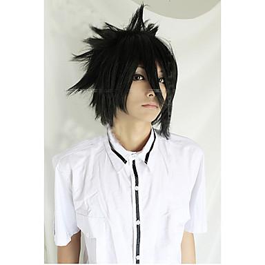 angelaicos mannen death note sasuke uchiha jongens zwart kort gelaagde harajuku Halloween Party kostuum cosplay pruik