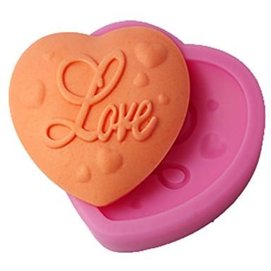 Négy-c torta forma szerelmes szív dekor szilikon forma szín rózsaszín