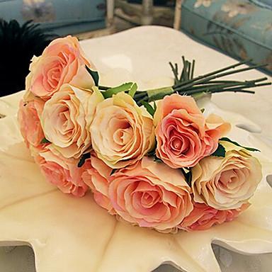 Branch Silk Roses Tabletop Flower Artificial Flowers