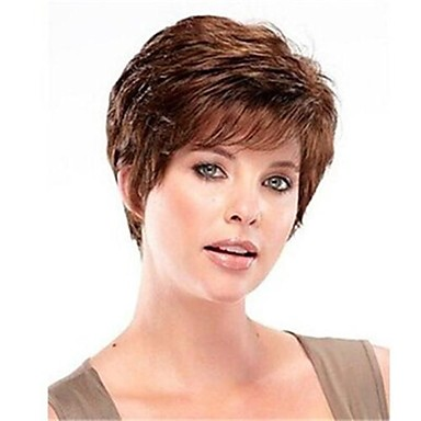 Women Synthetic Wig Short Chestnut Brown Costume Wigs Costume Wigs