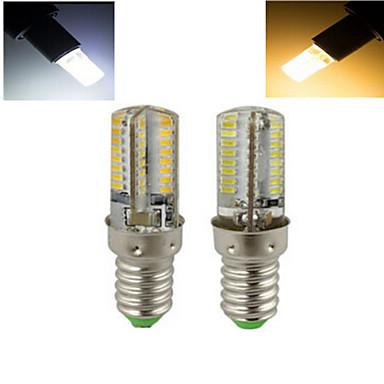 E14 LED kukorica izzók T 64 led SMD 3014 Meleg fehér Hideg fehér 1536lm 2800-3500/6000-6500K AC 220-240V