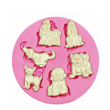 multi aranyos kutyája szilikon penész tortát díszítő szilikon penész a fondant cukorka kézműves ékszer PMC gyanta agyag