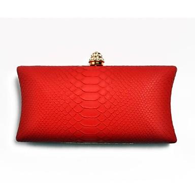 Kadın Çantalar PU için Davet/Parti Tüm Mevsimler Siyah Bej Mavi Koyu Kırmızı Açık Kahverengi