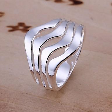 Női Vallomás gyűrűk jelmez ékszerek Ezüst Ékszerek Kompatibilitás Esküvő Parti Napi Hétköznapi