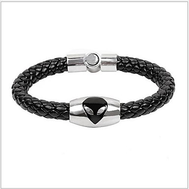 Tina -- Korean Alloy Accessory Leather Bracelet in Party