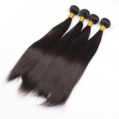 4db / tétel 26inch nyers brazil haj természetes fekete egyenes emberi haj szövés vetülék