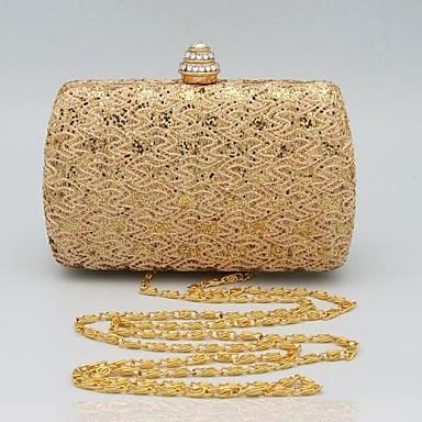 Kadın Çantalar PU için Davet/Parti Tüm Mevsimler Altın Gümüş