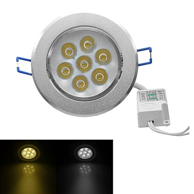 JIAWEN®  7W 630-700LM 3000-3200K/6000-6500K Warm White/White Light LED Receseed Lights (AC 100-240V)