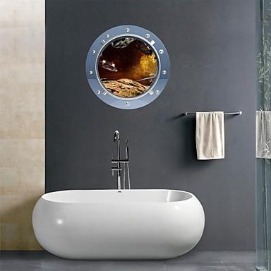3d stickers muraux stickers muraux, espace extra atmosphérique salle de bains ovni murales décoration murale PVC autocollants