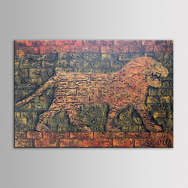 IARTS Oil Painting Modern Animal Lion With Heavy Texture Hand Painted Canvas with Stretched Frame