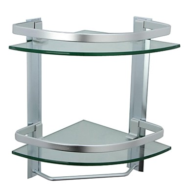 Bathroom Shelf Contemporary Aluminum / Tempered Glass 1 pc - Hotel bath