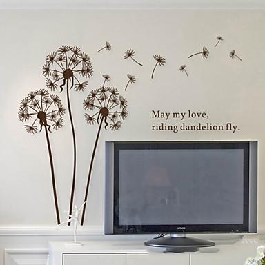 Botanical Romance Dandelion Plane Wall Stickers