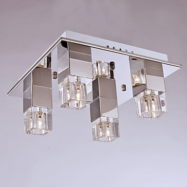 Flush Mount ,  Modern/Contemporary Chrome Feature for Mini Style Metal Living Room Bedroom Dining Room Study Room/Office Kids Room