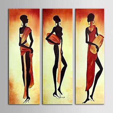 Kézzel festett Emberek Vászon Hang festett olajfestmény lakberendezési Három elem