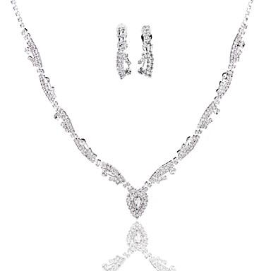 Damen Geometrische Form Grundlegend Halsketten Diamantimitate Aleación Halsketten . Hochzeit Party Geburtstag Verlobung