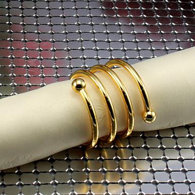 Metal Rechteckig Servietten Ring Mit Mustern Umweltfreundlich Tischdekorationen