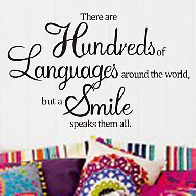 Words & Quotes 벽 스티커 플레인 월스티커 데코레이티브 월 스티커, 비닐 홈 장식 벽 데칼 벽