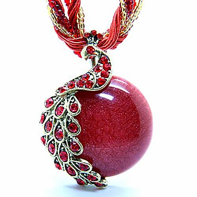 Dames Acryl Hars Koper Opaal  Legering Hangers Strengen ketting Medaillons ketting Verklaring Kettingen - Acryl Hars Koper Opaal