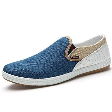 Men's Espadrilles Canvas Spring / Summer Comfort Loafers & Slip-Ons Blue / Beige / Green