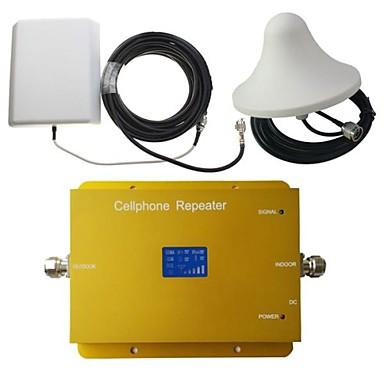 Новый ЖК-дисплей GSM900MHz wcdma2100mhz двухдиапазонный усилитель сигнала телефона с панели и потолка антенны