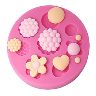 Dört-c kek dekor kalıp düğmeleri sakız yapıştırmak kalıp kek kaban, pasta dekorasyon araçları gereçleri, fondan dekorasyon araçları