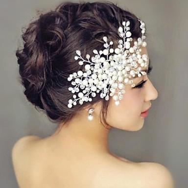 Perlhaar Kämme Kopfstück Hochzeitsgesellschaft elegant femininen Stil