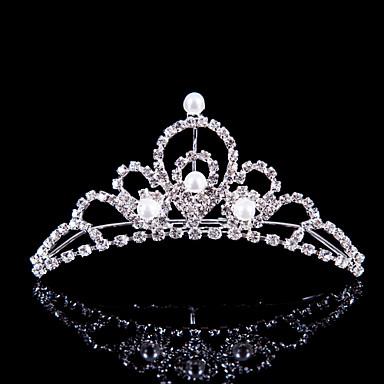 여성 플라워 걸 합금 투구-웨딩 특별한날 야외 왕관