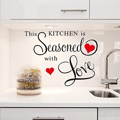 duvar çıkartmaları duvar çıkartmaları, bu mutfak aşk pvc mutfak çıkartmaları ile görmüş