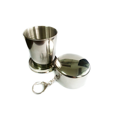 Camping Cup Single Collapsible Aluminium Alloy for Camping / Hiking Outdoor