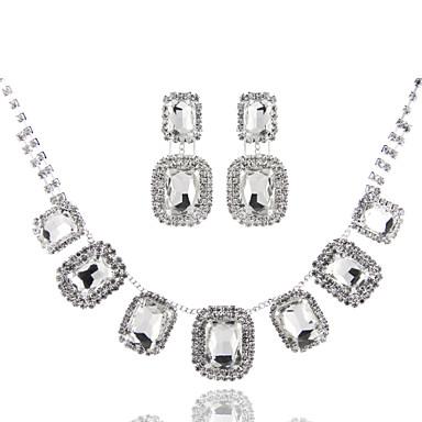 Damen Geometrische Form Gestalten Grundlegend Modisch Halsketten Diamantimitate Aleación Halsketten Hochzeit Party Geburtstag Verlobung