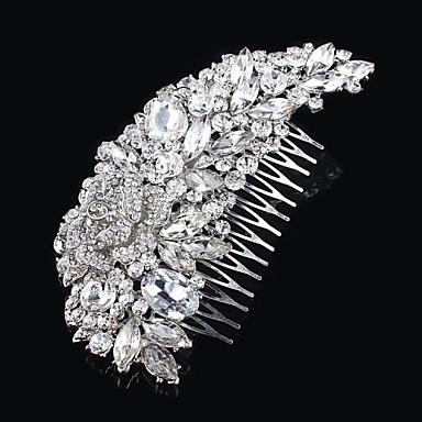 vintage tasarım düğün gelin kristal taraklar saçlara zarif stil