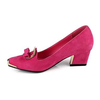 02754926 Habillé Femme Eté Fuchsia Bottier Printemps Chaussures Faux Vert Talon Noeud Daim Bleu PSqn7RpP